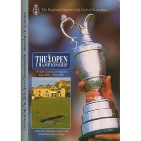 OPEN CHAMPIONSHIP 1995 (ST. ANDREWS) GOLF PROGRAMME