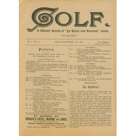 "GOLF - A WEEKLY RECORD OF ""YE ROYAL AND AUNCIENT"" GAME (1ST FACSIMILE EDITION)"