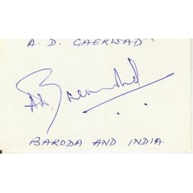 ANSHUMAN GAEKWAD (INDIA) CRICKET AUTOGRAPH