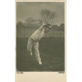 ALBERT TROTT (MIDDLESEX) CRICKET POSTCARD
