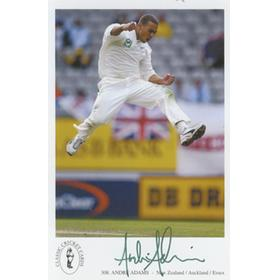 ANDRE ADAMS (NEW ZEALAND) SIGNED POSTCARD