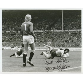 BRIAN TALBOT scoring in 1979 FA Cup final SIGNED PHOTOGRAPH