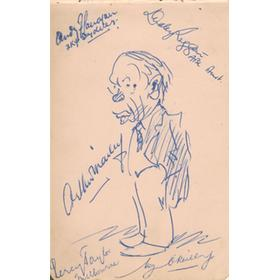 ARTHUR MAILEY SIGNED SELF-PORTRAIT (PLUS FINGLETON, O