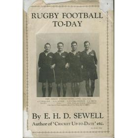 RUGBY FOOTBALL TO-DAY
