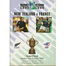 NEW ZEALAND V FRANCE 1999 RUGBY WORLD CUP PROGRAMME