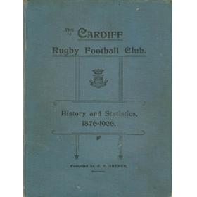 THE CARDIFF RUGBY FOOTBALL CLUB: HISTORY AND STATISTICS, 1876-1906