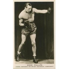 EDDIE PHILLIPS (GREAT BRITAIN)  BOXING POSTCARD