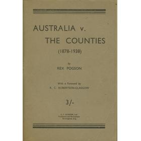 AUSTRALIA V THE COUNTIES (1878-1938)