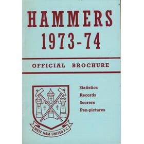 HAMMERS 1973-74 OFFICIAL BROCHURE