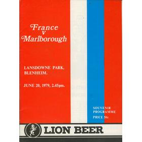 MARLBOROUGH V FRANCE 1979 RUGBY PROGRAMME