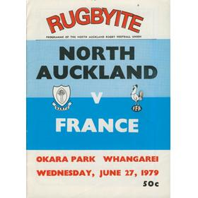 NORTH AUCKLAND V FRANCE 1979 RUGBY PROGRAMME