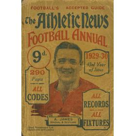 ATHLETIC NEWS FOOTBALL ANNUAL 1929-30
