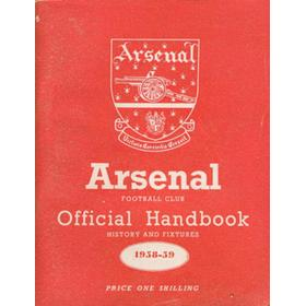 ARSENAL FOOTBALL CLUB 1958-59 OFFICIAL HANDBOOK