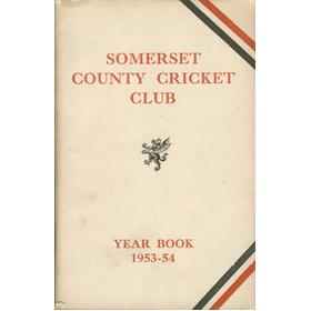 SOMERSET COUNTY CRICKET CLUB YEARBOOK 1953-54