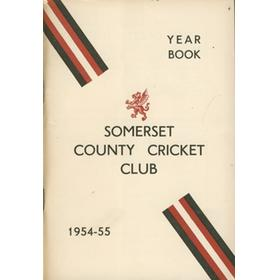 SOMERSET COUNTY CRICKET CLUB YEARBOOK 1954-55