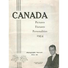 CANADIAN TOURING TEAM 1954 SOUVENIR