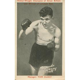 HENRY HALL (ENGLAND)  BOXING POSTCARD