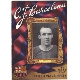 BARCELONA V BURNLEY 1949 (FRIENDLY) FOOTBALL PROGRAMME