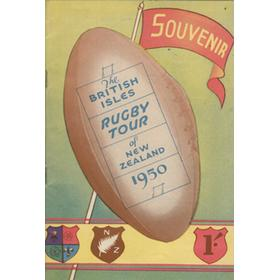 THE BRITISH ISLES RUGBY TOUR OF NEW ZEALAND 1950 SOUVENIR BROCHURE