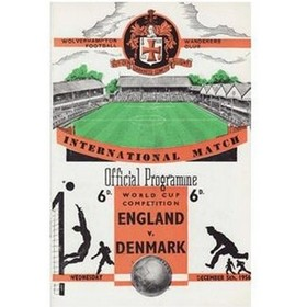 ENGLAND V DENMARK 1956 (WORLD CUP) FOOTBALL PROGRAMME