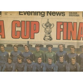 CHELSEA V LEEDS UNITED FA CUP FINAL 1970. LONDON EVENING NEWS COLOUR PREVIEW