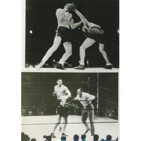 JOE LOUIS V MAX SCHMELING 1938 (COLLECTION OF FIVE ORIGINAL PRESS PHOTOS)