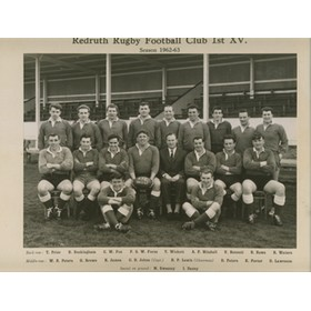 REDRUTH RUGBY FOOTBALL CLUB 1962-63