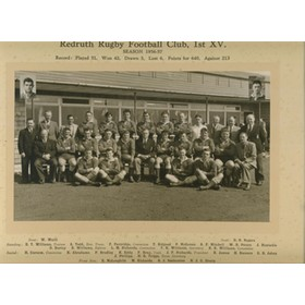 REDRUTH RUGBY FOOTBALL CLUB 1956-57