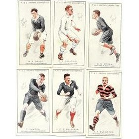 PROMINENT RUGBY PLAYERS 1924 - F & J SMITH CIGARETTE CARDS