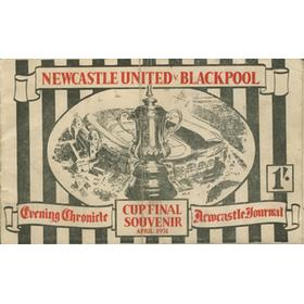 NEWCASTLE UNITED V BLACKPOOL, CUP FINAL SOUVENIR APRIL 1951