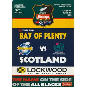 BAY OF PLENTY V SCOTLAND 1996 RUGBY PROGRAMME