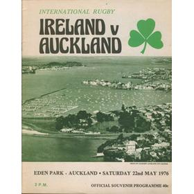 AUCKLAND V IRELAND 1976 RUGBY PROGRAMME