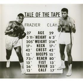 MUHAMMAD ALI V JOE FRAZIER 1971 PRESS PHOTOGRAPH