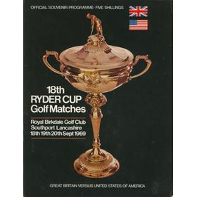 RYDER CUP 1969 (ROYAL BIRKDALE) official programme