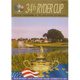 RYDER CUP 2002 (THE BELFRY) OFFICIAL PROGRAMME