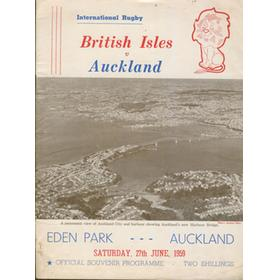 AUCKLAND V BRITISH ISLES 1959 RUGBY PROGRAMME