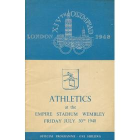 LONDON OLYMPICS 1948 - 30TH JULY ATHLETICS