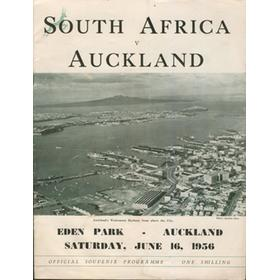 AUCKLAND V SOUTH AFRICA 1956 RUGBY PROGRAMME