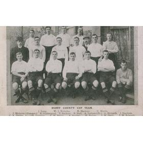 DERBY COUNTY 1908-09 TEAM POSTCARD