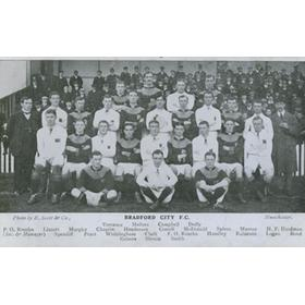 BRADFORD CITY 1909-10 TEAM POSTCARD