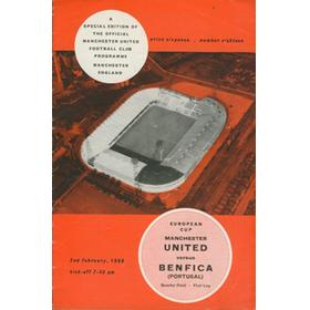 MANCHESTER UNITED V BENFICA 1965-66 (EUROPEAN CUP) FOOTBALL PROGRAMME
