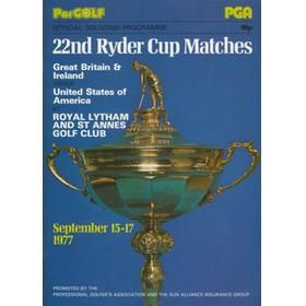 RYDER CUP 1977 (ROYAL LYTHAM & ST. ANNES) OFFICIAL PROGRAMME