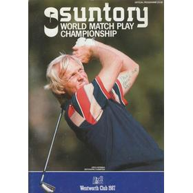 WORLD MATCH PLAY CHAMPIONSHIP 1987 GOLF PROGRAMME