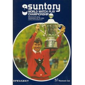 WORLD MATCH PLAY CHAMPIONSHIP 1990 GOLF PROGRAMME