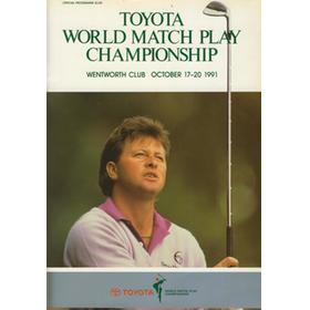 WORLD MATCH PLAY CHAMPIONSHIP 1991 GOLF PROGRAMME