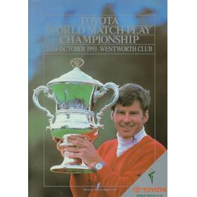 WORLD MATCH PLAY CHAMPIONSHIP 1993 GOLF PROGRAMME