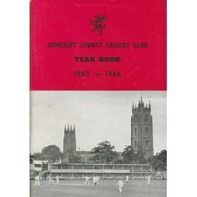 SOMERSET COUNTY CRICKET CLUB YEARBOOK 1965-1966