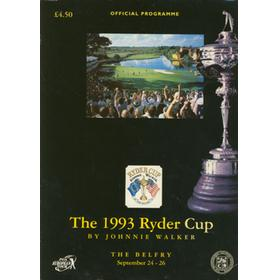 RYDER CUP 1993 (THE BELFRY) OFFICIAL PROGRAMME