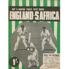 DAY & MASON 1951 TEST BOOK: ENGLAND V SOUTH AFRICA