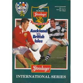 AUCKLAND V BRITISH ISLES 1993 RUGBY PROGRAMME
